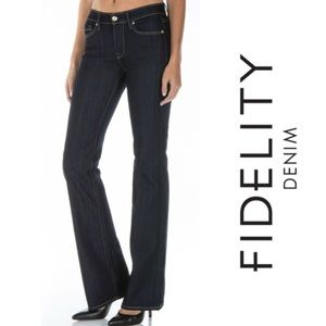 Fidelity Skip Low Waist Flare Blue Jeans